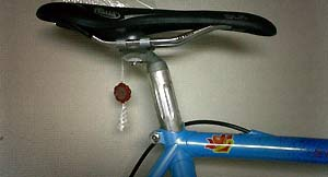 これでダメだったら、BMXについてる安物をつけてみるべ。