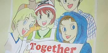 学食で見つけたポスター。よく見ると「Z」のメットをかぶってるのね、確かにここは□○系(笑)