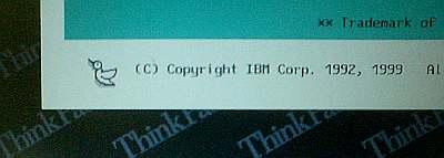 ThinkPad600Eの世話をする。そういやBIOSに鳥が出てきて羽ばたくんだよね。