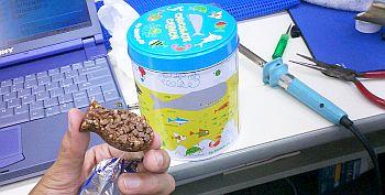 江ノ島水族館のお土産のチョコクランチ。この形はワタシ好み。