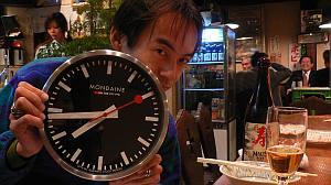 やっと届いたスイス国鉄デザインの時計。でもメカはドイツ(笑)