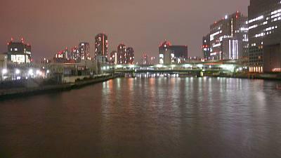 夜中1時すぎの隅田川