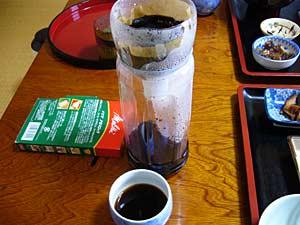 ペットボトルで作ったコーヒーメーカ。