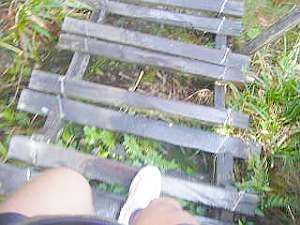 すっ転んで骨折しそうな階段。