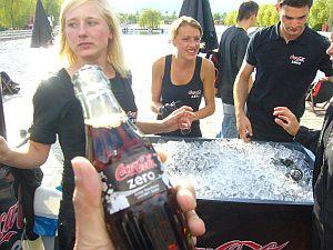 コカコーラゼロが出口で振る舞われた。