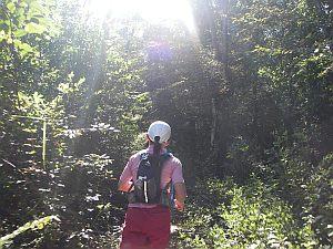 日差しを浴びてのトレイルなんて初めて!