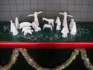 大学内に展示してあるクリスマス飾り。