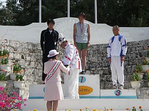 パナウル王国の王様からメダルをもらう。