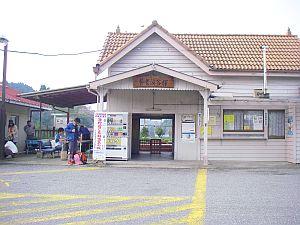 活動拠点となった養老渓谷駅