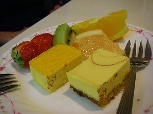 デザートが美味しくても食べ放題。