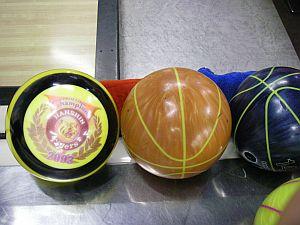 球のデザインがいろいろで驚く。