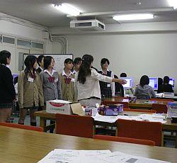 授業を見学しにきた中学生たち。どんな印象を持たれたんだろ(w