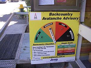 今日の危険性を示すアナログメーター。各所にあり。