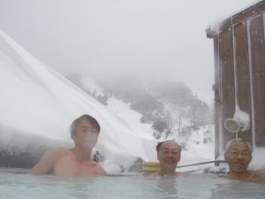 昼間の露天風呂は久しぶり。