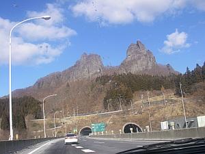 キナバル山みたいな黒岩山。