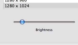 ついに現れた輝度調整スライダー。