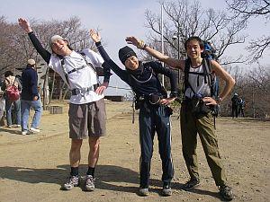 高尾山登頂成功の図。