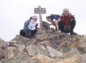 女峰山で勇気ある撤退を決定。