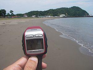 GPSの正確さを再確認する。