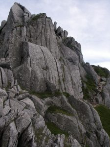 岩には登り放題。