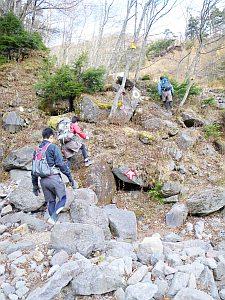 本物っぽい登山道もあった。