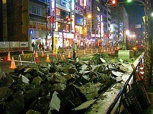 カタストロフな早稲田通り。走ってみたい(笑)