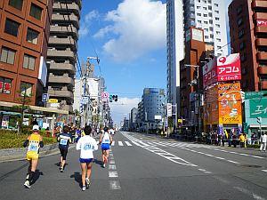 大通りは晴れててよかった。