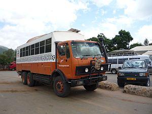 カイロからケープタウンへの直行バス。