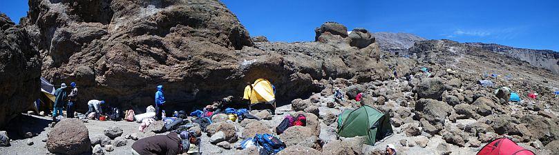 北斜面は巨大な岩で見晴らしなし。