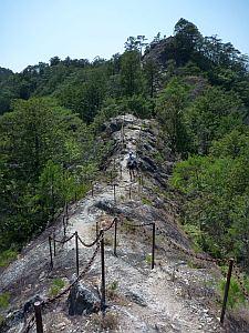岩の尾根道が続く。