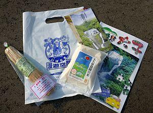 来場者には米と納豆のプレゼント。