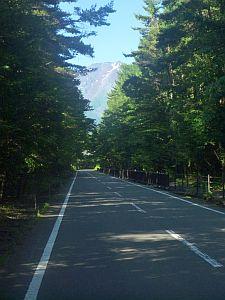 ロード区間は苦手だけど、山が見えてるとやる気が出る。