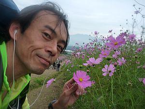 花とオジサン