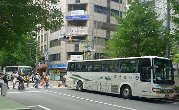 てんぷら油バスに乗る。