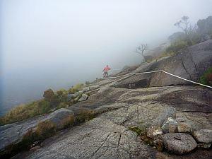 ちょいと霧もかかってきた。