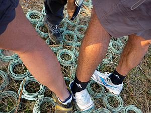 大くんとワタシの足。遅い方が太い(w