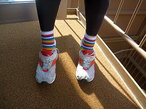 ボーダー&レインボーな靴下。