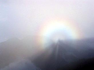 虹の中に自分が見える。