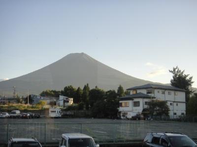 富士山を後にするー。