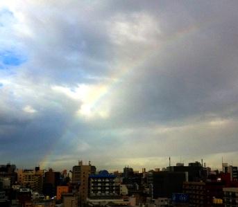 虹が見えたよ〜!