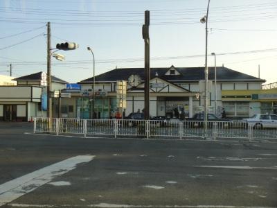 のどかな石岡駅に初上陸