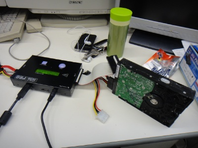 被災HDDは復旧できず(>_<)