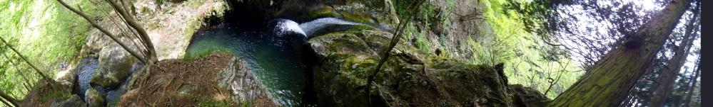 複数の滝壺をパノラマで撮ってみた。