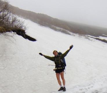 雪上でも足は寒くない。