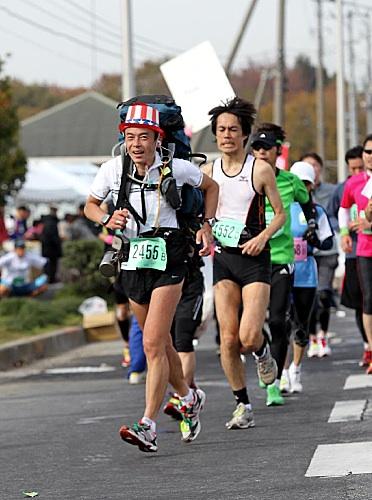 つくばマラソンの写真ができとった。