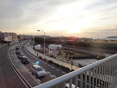 江ノ島方面の初日の出