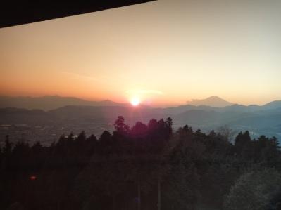 富士山の夕焼けが綺麗。
