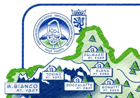 アオスタの山小屋協同組合?のランチョンマット。