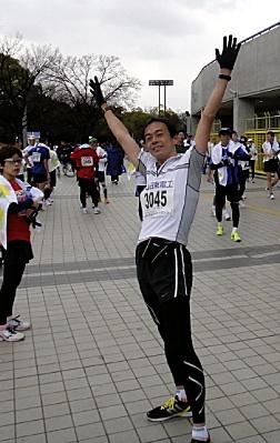 走り終わって。