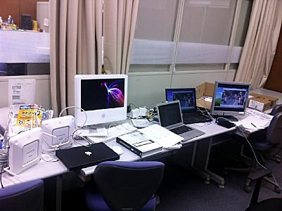 スカンクワーク用のMacが並ぶ(笑)